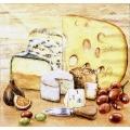"""Салфетка для декупажа """"Сыр и вино"""", 33х33 см, Голландия"""