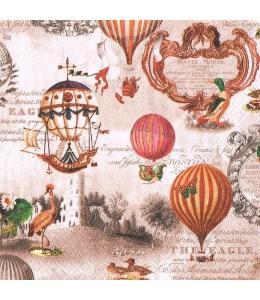 """Салфетка для декупажа """"Воздушные шары"""", 33х33 см, Германия"""