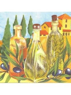 Салфетка для декупажа Оливковое масло, 33х33 см, Польша