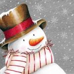 """Салфетка для декупажа """"Снеговик в шляпе"""", 33х33 см, Ambiente (Голландия)"""