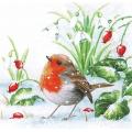 """Салфетка для декупажа """"Зимняя птичка"""", 33х33 см, Ambiente (Голландия)"""