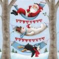 """Салфетка для декупажа HF333050650 """"Отдых на Рождество"""", 33х33 см, Ambiente (Голландия)"""