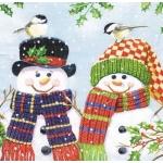"Салфетка для декупажа HF33305095 ""Пара снеговиков"", 33х33 см, Ambiente (Голландия)"