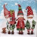 """Салфетка для декупажа """"Рождественские гномы"""", 33х33 см, Ambiente (Голландия)"""
