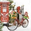 """Салфетка для декупажа """"Велосипед с подарками"""", 33х33 см, Ambiente (Голландия)"""
