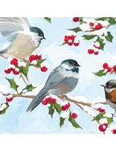 """Салфетка для декупажа HF3331062 """"Зимние птицы"""", 33х33 см, Германия"""