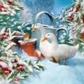 """Салфетка для декупажа """"Гуси в зимнем саду"""", 33х33 см, Ambiente (Голландия)"""