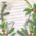 """Салфетка для декупажа """"Рождественская музыка"""", 33х33 см, Ambiente (Голландия)"""