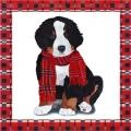 """Салфетка для декупажа """"Собака в красном шарфе"""", 33х33 см, Германия"""