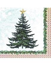 """Салфетка для декупажа """"Рождественская ёлка"""", 33х33 см, Германия"""