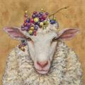 "Салфетка для декупажа ""Овца и виноград"", 33х33 см, Германия"