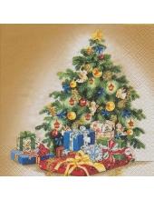 "Салфетка для декупажа ""Новогодняя ёлка"", 33х33 см, Германия"
