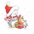 """Салфетка для декупажа """"Маленькие рождественские друзья"""", 33х33 см, Германия"""