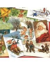 "Салфетка для декупажа ""Винтажное Рождество"", 33х33 см, Германия"