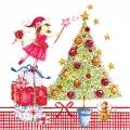"""Салфетка для декупажа HF611421 """"Рождественская фея"""", 33х33 см, Германия"""