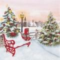 """Салфетка для декупажа """"Рождественский парк"""", 33х33 см, Германия"""