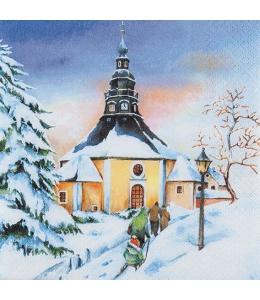 "Салфетка для декупажа ""Зимний закат"", 33х33 см, Германия"