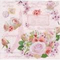 """Салфетка для декупажа HFARI """"Розы Парижа"""", 33х33 см, Германия"""
