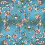"""Салфетка для декупажа """"Цветущие деревья и птицы"""", 33х33 см, Италия"""