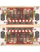 """Салфетка для декупажа """"Кафе Бистро"""", 33х33 см, Италия"""