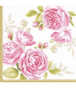 """Салфетка для декупажа """"Нежные розы"""", 33х33 см, Германия"""