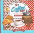 """Салфетка для декупажа """"Время для кофе"""", 33х33 см, Италия"""