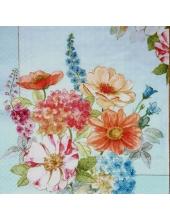 "Салфетка для декупажа ""Садовые цветы"", 33х33 см, Nuova R2S (Италия)"