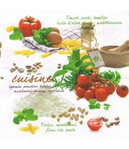"Салфетка для декупажа ""Кухня"", 33х33 см, Nuova R2S (Италия)"