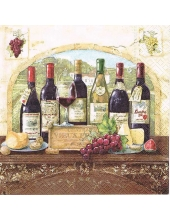 "Салфетка для декупажа ""Дегустация вин"", 33х33 см, Nuova R2S (Италия)"