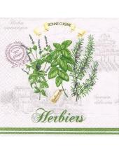 "Салфетка для декупажа HFHERB ""Пряные травы"", 33х33 см, Германия"