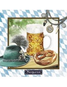 """Салфетка для декупажа """"Баварское пиво"""", 33х33 см, Германия"""