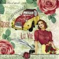 """Салфетка для декупажа """"Жизнь в розовом цвете"""", 33х33 см, Германия"""