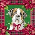 """Салфетка для декупажа HFLU231220 """"Рождественские собаки"""", 33х33 см, Германия"""