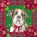 Салфетка новогодняя для декупажа Рождественские собаки, 33х33 см, Германия