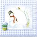 """Салфетка для декупажа HFLU291249 """"Снеговики"""", 33х33 см, Германия"""