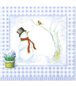 """Салфетка для декупажа """"Снеговики"""", 33х33 см, Германия"""