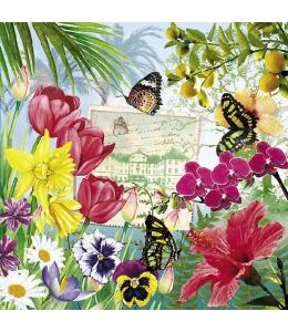 """Салфетка для декупажа """"Цветочный остров"""", 33х33 см, Германия"""