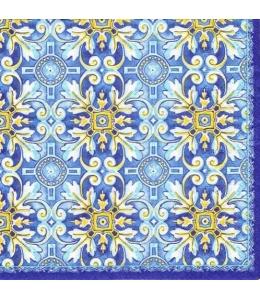 "Салфетка для декупажа ""Майолика синяя"", 33х33 см, Nuova R2S (Италия)"