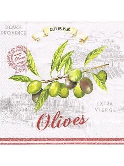 Салфетка для декупажа Оливки, 33х33 см, Nuova R2S (Италия)