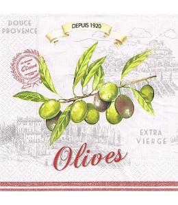 "Салфетка для декупажа ""Оливки"", 33х33 см, Nuova R2S (Италия)"