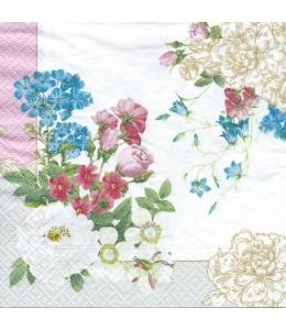 "Салфетка для декупажа ""Весенние цветы"", 33х33 см, Nuova R2S (Италия)"