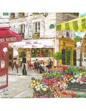 "Салфетка для декупажа ""Парижские улочки"", 33х33 см, Nuova R2S (Италия)"