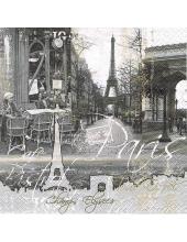 "Салфетка для декупажа ""Париж"", 33х33 см, Nuova R2S (Италия)"