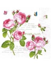 """Салфетка для декупажа """"Романтические розы"""", 33х33 см, Германия"""