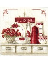 "Салфетка для декупажа ""Уютная кухня"", 33х33 см, Италия"