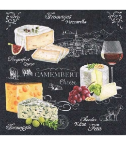 "Салфетка для декупажа ""Мир сыра"", 33х33 см, Германия"