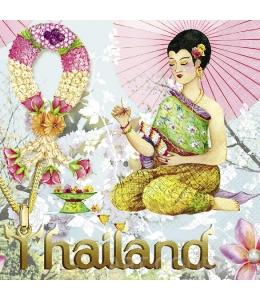 "Салфетка для декупажа ""Таиланд"", 33х33 см, Германия"
