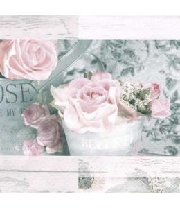 "Салфетка для декупажа ""Цветы Парижа винтаж"", 33х33 см, Германия"