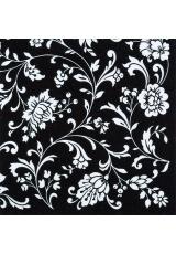 """Салфетка для декупажа """"Цветочный орнамент на черном """", 33х33 см, Германия"""