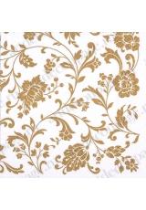 """Салфетка для декупажа """"Цветочный золотой орнамент"""", 33х33 см, Германия"""